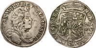 ANHALT - ZERBST 2/3 Taler 1676 Carl Wilhelm 1667-1718.