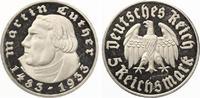 1933 F  5 Mark Luther 1933 F geringe Auflage PP einzelne feine Kratzer... 475,00 EUR  Excl. 7,00 EUR Verzending