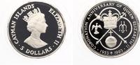 1993  CAYMAN ISLANDS 5 DOLLARS 1993 40 jähriges Krönungsjubiläum pp  25,00 EUR  +  4,00 EUR shipping