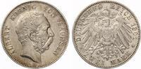1901  2 Mark Sachsen Albert Jaeger 124 ss-vz  75,00 EUR  +  7,00 EUR shipping