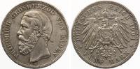 1901  5 Mark Baden Jaeger 29 ss  75,00 EUR  Excl. 7,00 EUR Verzending