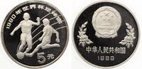 1989  China 5 Yuan 1989 Fussball WM 1990 pp  30,00 EUR  +  7,00 EUR shipping