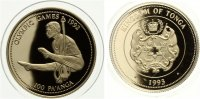 Tonga 100 Paanga Olympische Sommerspiele Barcelona 1992 - Ringeturne... 229,50 EUR  +  7,00 EUR shipping
