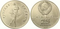 1989  25 Rubel Ballett Palladium ST matt  900,00 EUR