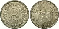 1932 D  3 Reichmark fast Stempelglanz feine Tönung  675,00 EUR  +  7,00 EUR shipping