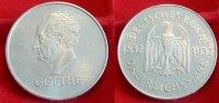 1932 G  3 Mark Goethe VZ aus Erstabschlag Aver etwas berieben  110,00 EUR  Excl. 7,00 EUR Verzending