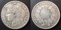 1873 A France 2 francs Cérès 1873 A Paris, 3e République, G.530a Léger... 30,00 EUR  +  6,00 EUR shipping