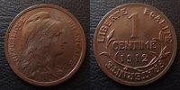 1912 France 1 Centime Daniel Dupuis 1912, G.90 TTB à SUPERBE vz  5,50 EUR  +  6,00 EUR shipping