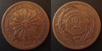 1869 Uruguay URUGUAY, 2 centesimos 1869, KM.12 TTB ss  10,00 EUR  +  6,00 EUR shipping