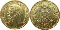 """Deutschland Baden 10 Mark Gold J188 10 Mark Gold Friedrich I. """"G"""""""