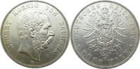 """5 Mark 1889 E Deutschland Sachsen J122 5 Mark Albert """"E"""" ss+  245,00 EUR  +  12,95 EUR shipping"""