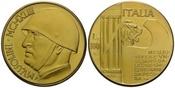 Italien, 100 Lire 1943 f.st Mussolini,