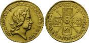 1/4 Guinea 1718, Großbritannien, Georg I, 1714-1727, vz