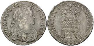 Frankreich, Ecu de Navarre 1718 ss Ludwig ...