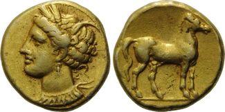 Elektron Shekel-Didrachme (310-270 v.Chr) ...