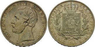 Vereinstaler 1866, Oldenburg, Nicolaus Friedrich Peter, 1853-1900, f.vz