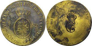 Passiergewicht für 2/3 Taler 1787, Schleswig-Holstein, Christian VII. von Dänemark, 1766-1808, f.vz