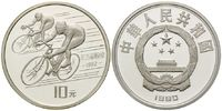 10 Yuan 1990 China, Olympische Spiele in Barcelona 1992 - Radrennen, PP  25,00 EUR  +  shipping