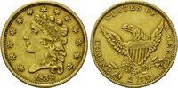 2 1/2 Dollars 1834 USA, Coronet Head, ss-vz, Rs.Graffito  750,00 EUR  +  19,50 EUR shipping