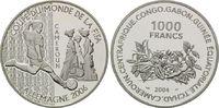 1000 Francs 2004, Kamerun, Fußball-WM 2006 in Deutschland, PP  21,00 EUR  +  9,90 EUR shipping