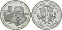 1000 Francs 2001, Togo, Fußball-WM, PP  29,00 EUR  +  9,90 EUR shipping