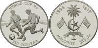 250 Rufiyaa 1993, Malediven, Fußball-WM 1994, PP  20,00 EUR  +  9,90 EUR shipping