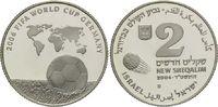 2 Schekel 2004, Israel, Fußball-WM 2006 in Deutschland, PP  26,00 EUR  +  9,90 EUR shipping