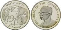 25 Dalasis 1994, Gambia, Fußball-WM 1994, PP  26,50 EUR  +  9,90 EUR shipping