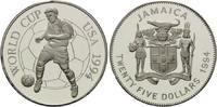 25 Dollars 1994, Jamaika, Fußball-WM 1994, PP  21,00 EUR  +  9,90 EUR shipping