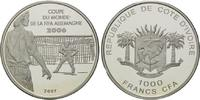 1000 Francs 2007, Elfenbeinküste, Fußball-WM 2006 in Deutschland, PP  38,00 EUR  +  9,90 EUR shipping