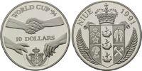 10 Dollars 1991, Niue, Fußball-WM 1994, PP  22,00 EUR  +  9,90 EUR shipping