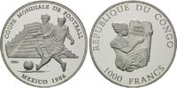 1000 Francs 2001, Kongo, Fußball-WM, PP  35,00 EUR  +  9,90 EUR shipping