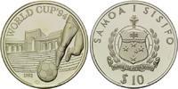 10 Tala 1992, Samoa, Fußball-WM 1994, PP, leicht patiniert  20,00 EUR  +  9,90 EUR shipping