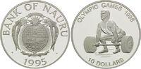 10 Dollars 1995, Nauru, Olympische Spiele Atlanta 1996 - Gewichtheber, PP  26,00 EUR  +  9,90 EUR shipping