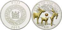 10 Dollars - 1 Unze 2015, Fidschi Inseln, Lunar, Jahr der Ziege mit ech... 89,00 EUR  +  9,90 EUR shipping