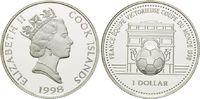 1 Dollar 1998, Cook Inseln, Fußball WM 98 Frankreich, Fußball vor Arc d... 13,00 EUR  +  9,90 EUR shipping