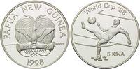 5 Kina 1998, Papua Neu Guinea, Fußball WM 98 Frankreich, Fußballer beim... 26,00 EUR  +  9,90 EUR shipping