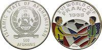 500 Afghanis 1996, Afghanistan, Fußball WM 98 Frankreich, Farbmünze Wim... 19,00 EUR  +  9,90 EUR shipping