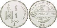 500 Tögrög 1997, Mongolei, Fußball WM 98 Frankreich, Schriftzug vor Glo... 26,00 EUR  +  9,90 EUR shipping