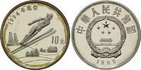 10 Yuan 1992, China, Olympia 1994 in Lillehammer, fleck.Patina, PP  26,00 EUR  +  9,90 EUR shipping