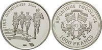 1000 Francs 2003, Togo, Olympischen Sommerspiele 2004 in Athen, PP  22,00 EUR  +  9,90 EUR shipping