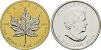 5 Dollars 2010, Kanada, Maple Leaf, Teilvergoldet und -rhodiniert, st  39,00 EUR  +  9,90 EUR shipping