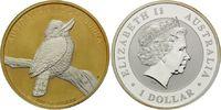 Dollar 2010, Australien, Kookaburra, Teilvergoldet und -rhodiniert, st  45,00 EUR  +  9,90 EUR shipping