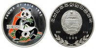 Korea, 500 Won 1995, Fauna of Asia, Panda farbig,