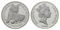 Cook-Islands, 10 Dollars 1990, PP Bedrohte Tierwelt - Tiger, 13,00 EUR free shipping