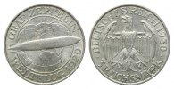 Weimarer Republik, 3 Mark 1930 D, Zeppelin,