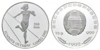 Korea, 200 Won 1992, PP Olympische Spiele in Barcelona 1992 - Sprint, 23,00 EUR free shipping