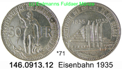 50 Francs 1935 Belgium Belgien *71 KM106 franz. Eisenbahn . 146.0913.12... 95,00 EUR  +  8,95 EUR shipping
