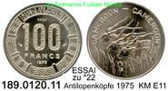 100 Francs 1975 Cameroon Kamerun  . . zu *22 ESSAI unc  50,00 EUR  +  8,95 EUR shipping