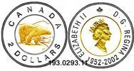 2 Dollars 2002 Canada Kanada *445 Eisbär Thronjubiläum . . . unc /BU  29,75 EUR